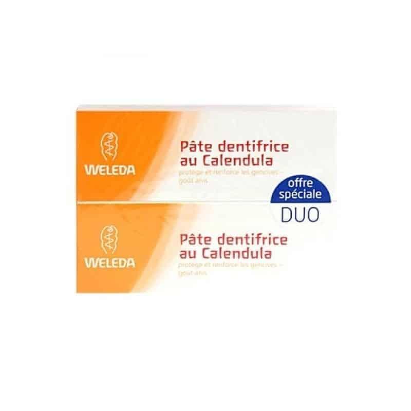 Weleda Pate Dentifrice au Calendula Lot de 2 x 75ml