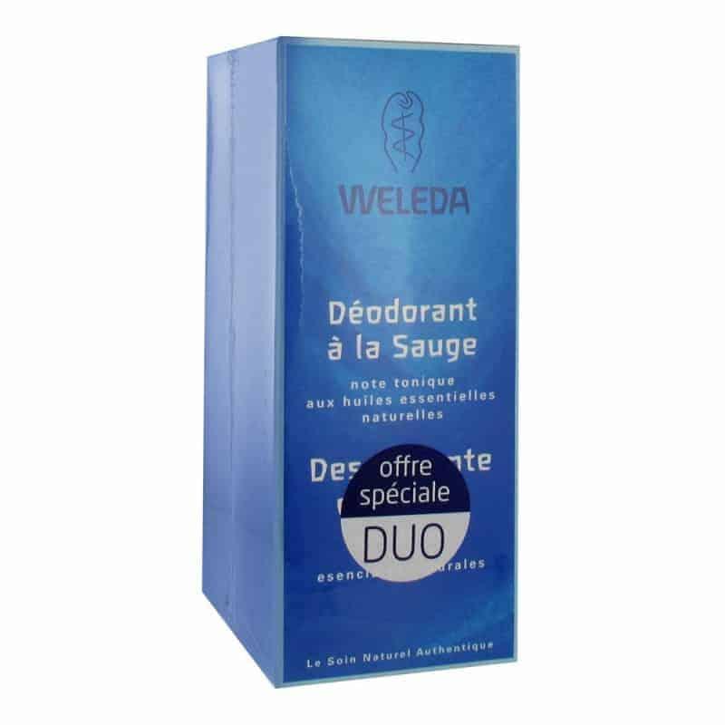 Weleda Déodorant à la Sauge Lot de 2 x 100ml