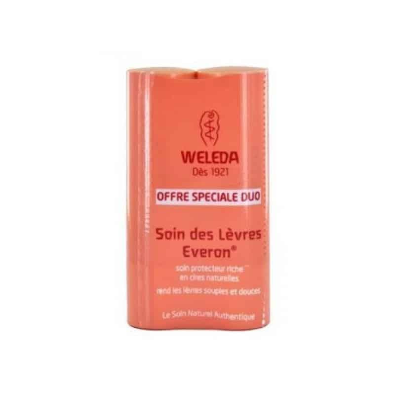 Weleda Soin des Lèvres Everon Lot de 2 x 4,8g