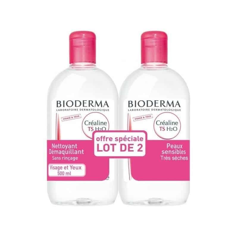 Bioderma Créaline TS H2O Lot de 2 x 500ml