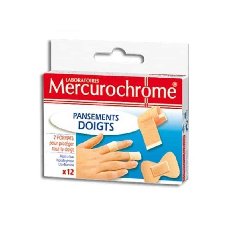 Mercurochrome Pansements Doigts boite de 12
