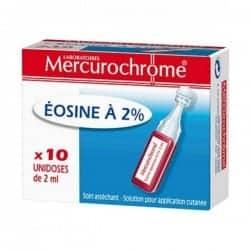 Mercurochrome Eosine à 2%...