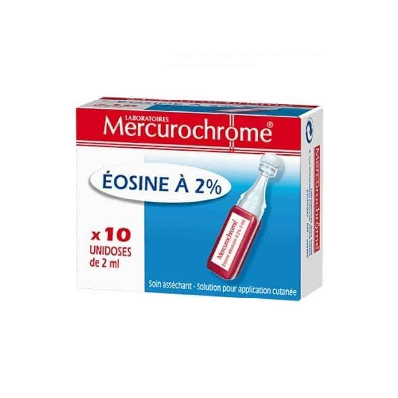 Mercurochrome Eosine à 2% 10 Unidoses de 2ml