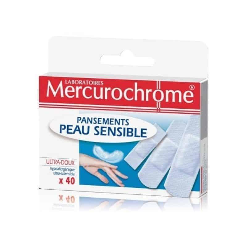 Mercurochrome Pansements Peau Sensible boite de 40
