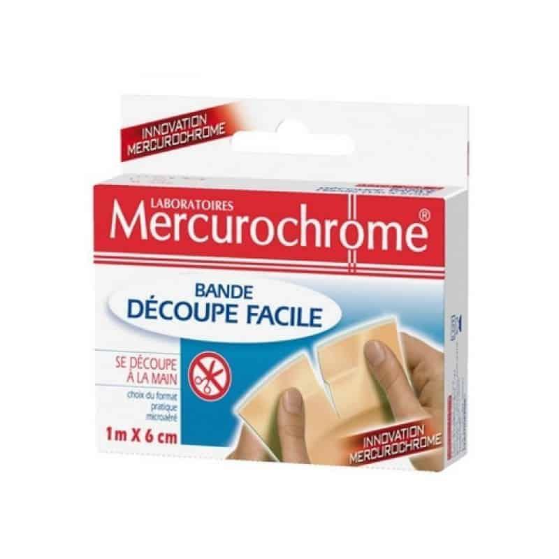 Mercurochrome Pansement Bande Découpe Facile 1m x 6cm