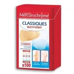 Mercurochrome Boîte 1ers Secours Multi-Usage 100 pansements
