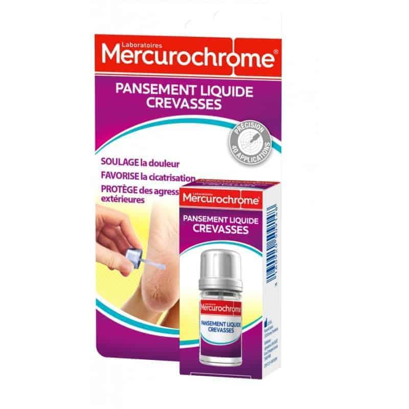 Mercurochrome Pansement Liquide Crevasses Pieds
