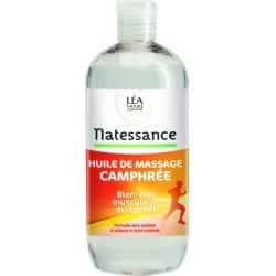 Natessance Huile De Massage Camphrée 500ml