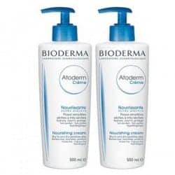 Bioderma Atoderm Crème Nourissante Sans Parfum Lot de 2 x 500ml Flacon pompe