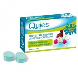 Quies Protection Auditive Silicone Spécial Natation Enfants 3 Paires