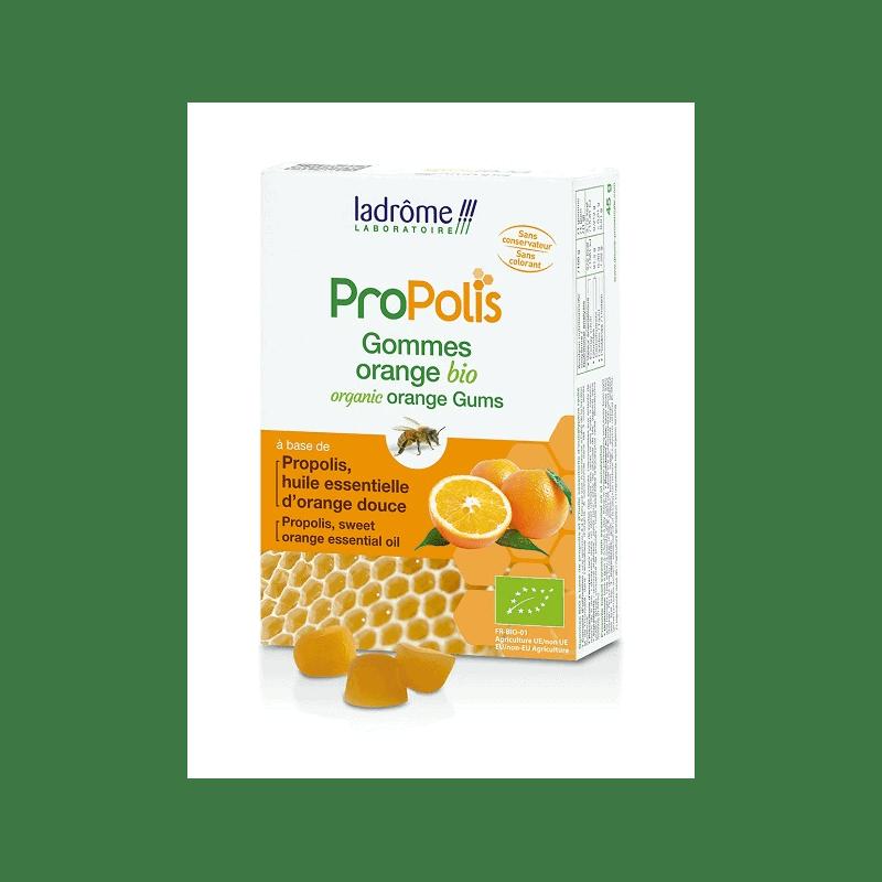 Ladrôme Propolis Gommes propolis et Orange Bio 45g