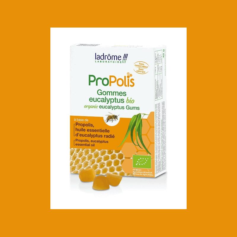Ladrôme Propolis Gommes Propolis et Eucalyptus Bio 45g