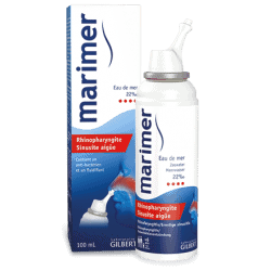 Marimer Solution Nasale Rhinopharyngite et Sinusite Aigüe Eau de Mer 22%