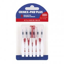 Crinex PHB Plus Brossettes Interproximales Cylindrique 6 Brossettes