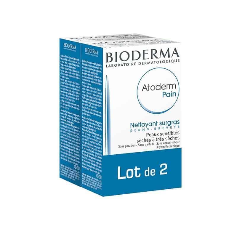 Bioderma Atoderm Pain Nettoyant Surgras Lot de 2 x 150g