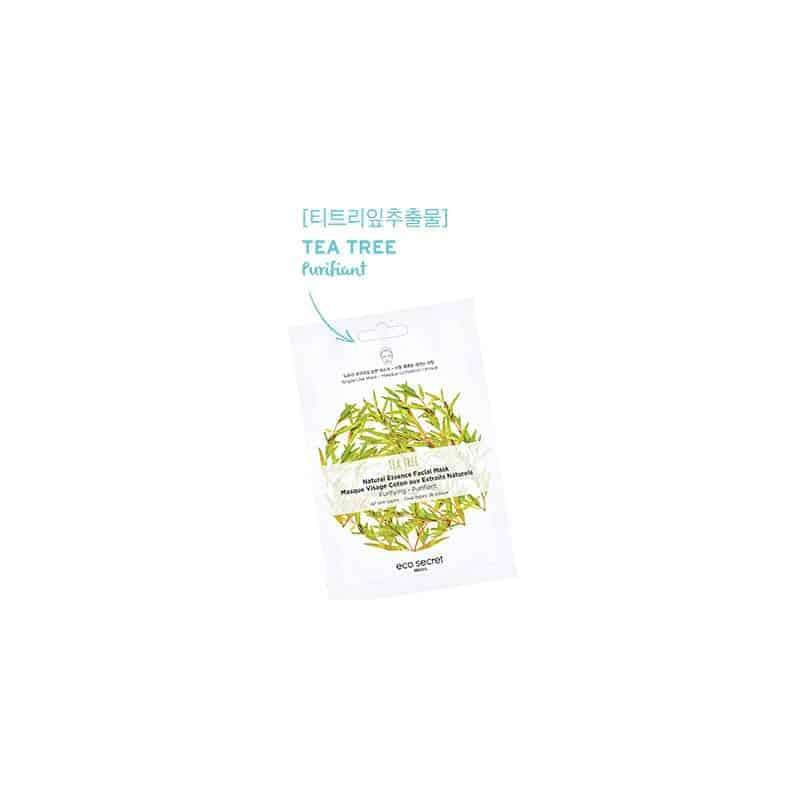 Eco Secret Masque en coton Tea Tree unitaire