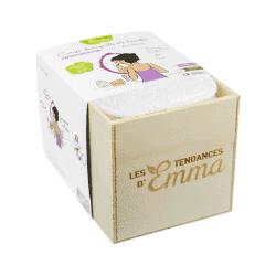 Les Tendances d'Emma Kit Eco Belle Eucalyptus Bio 15 Carrées Démaquillants Lavables