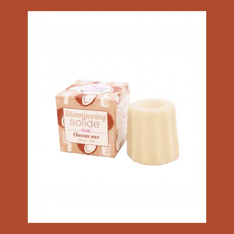 Lamazuna shampooing Solide en vrac Cheveux Secs Vanille et Coco 55g