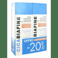 Cicabiafine Crème Hydratante Anti-Irritations Lot de 2 x 200ml