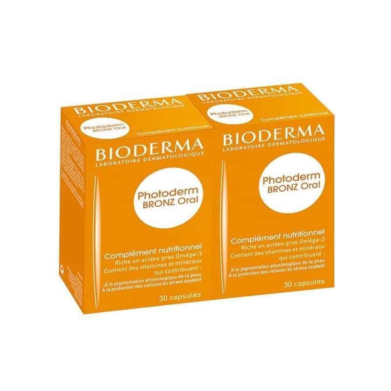 Bioderma Photoderm Bronz Oral Lot de 2 x 30 capsules