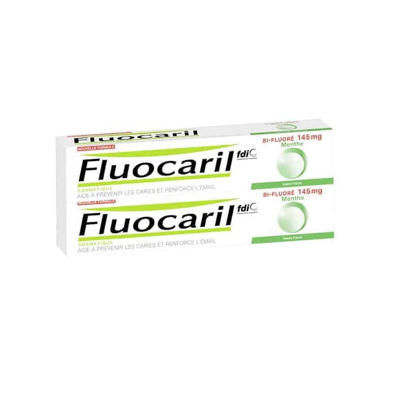Fluocaril Dentifrice Bi-Fluoré Menthe 145mg Duo 2x75ml