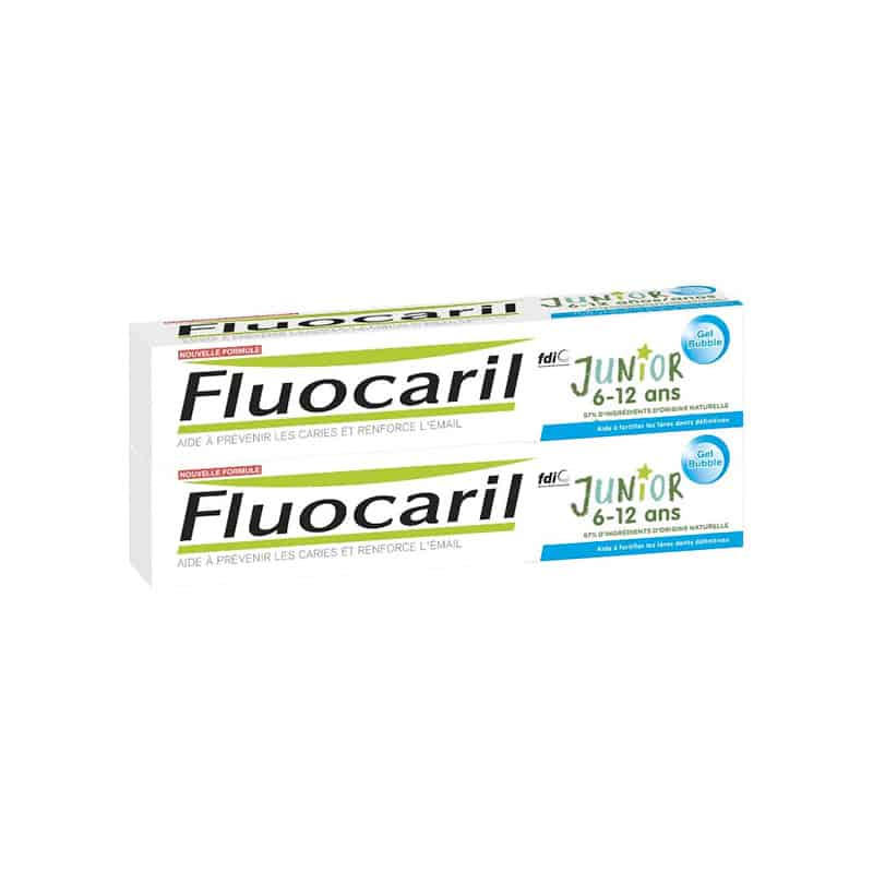 Fluocaril Dentifrice Junior Gel Bubble Gum 145mg Duo 2x75ml
