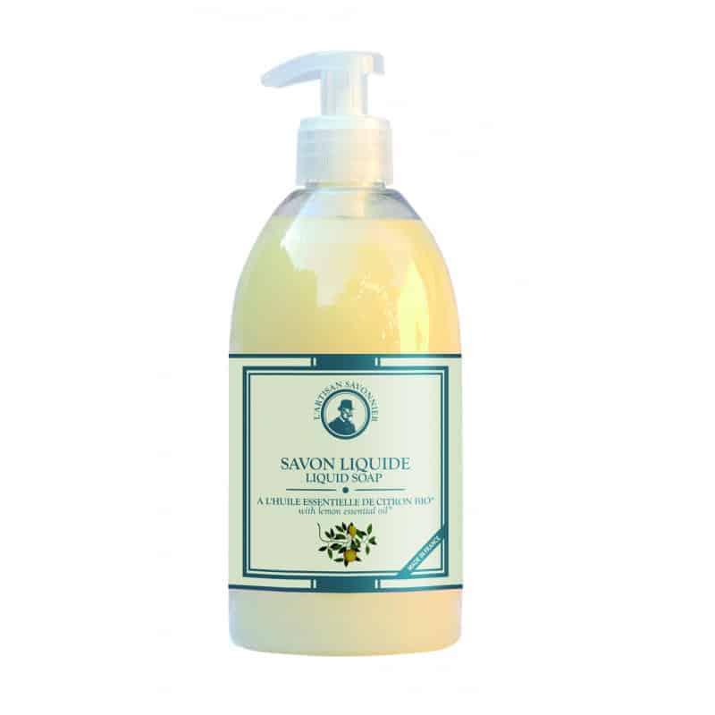 L'Artisan Savonnier Savon Liquide à L'huile Essentielle de Citron 500ml