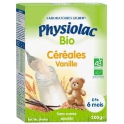 Physiolac Bio Céréales Vanilles Dès 6 mois 200g