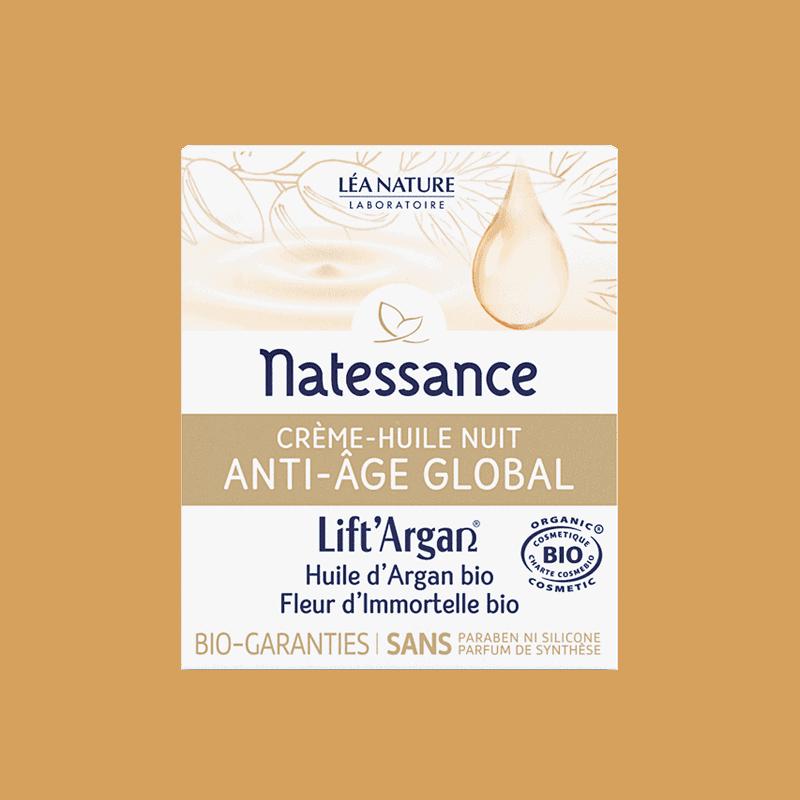 Natessance Lift Argan Crème Huile Nuit 50ml