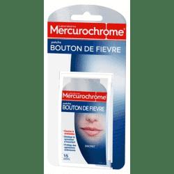 Mercurochrome Patchs Silicone Bouton de Fièvre 15 patchs