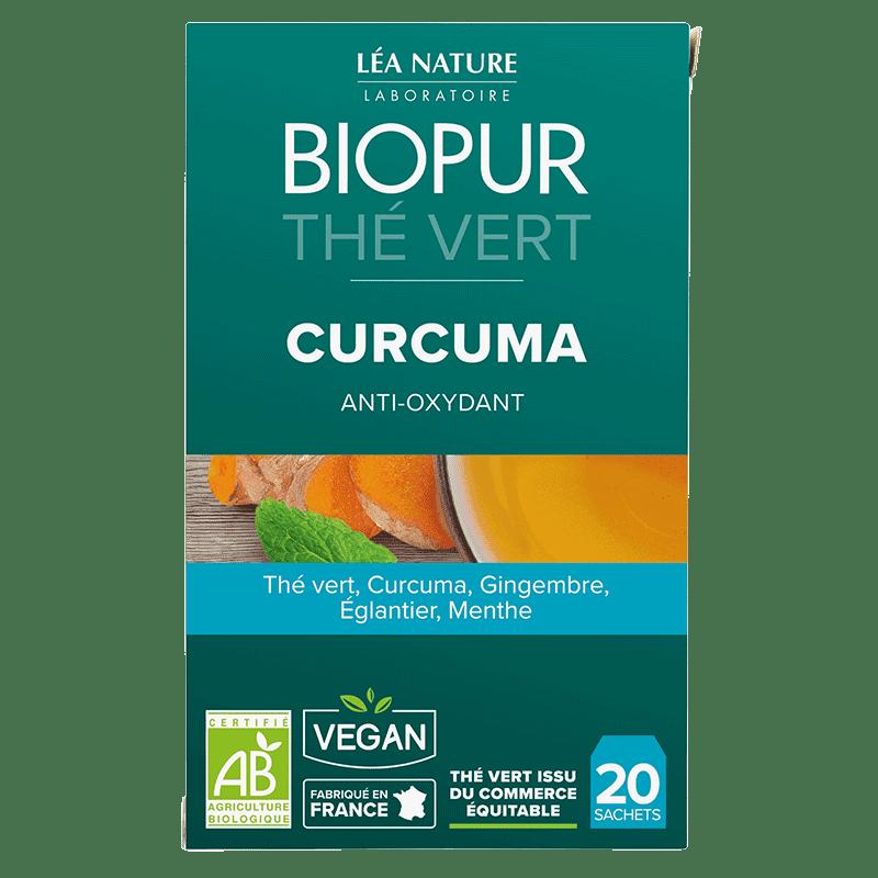 Biopur Thé Vert Anti-oxydant Curcuma 20 sachets