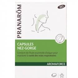 Pranarom Aromaforce Capsules Nez et Gorge 30 capsules