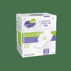 Unyque Serviette Extra Fine Bio boite de 10 Super