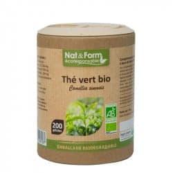 Nat&Form Ecoresponsable Thé Vert Bio 200 Gélules