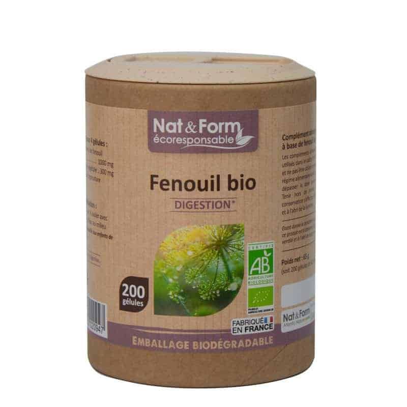 Nat&Form Ecoresponsable Fenouil Bio 200 Gélules