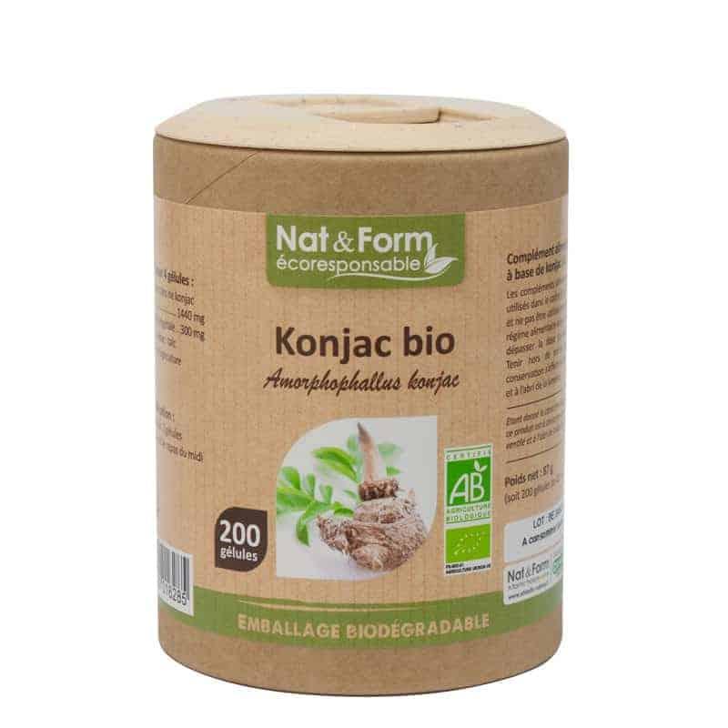 Nat&Form Ecoresponsable Konjac Bio 200 Gélules