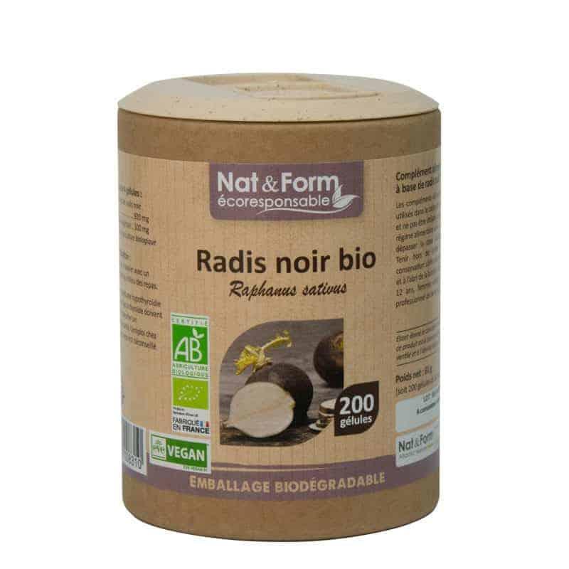 Nat&Form Ecoresponsable Radis Noir Bio 200 Gélules