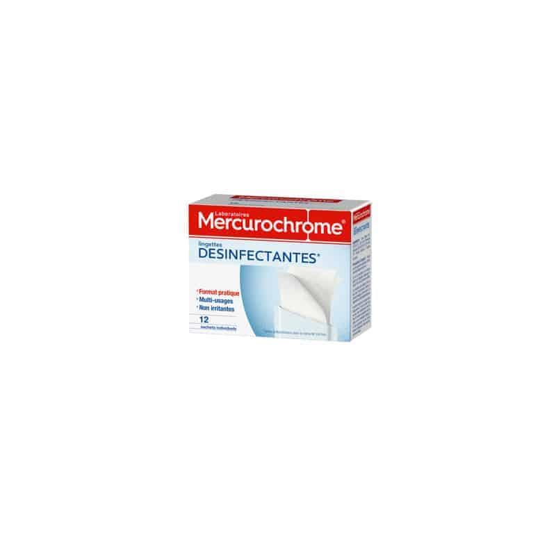Mercurochrome Lingettes Désinfectantes Individuelles 12 lingettes