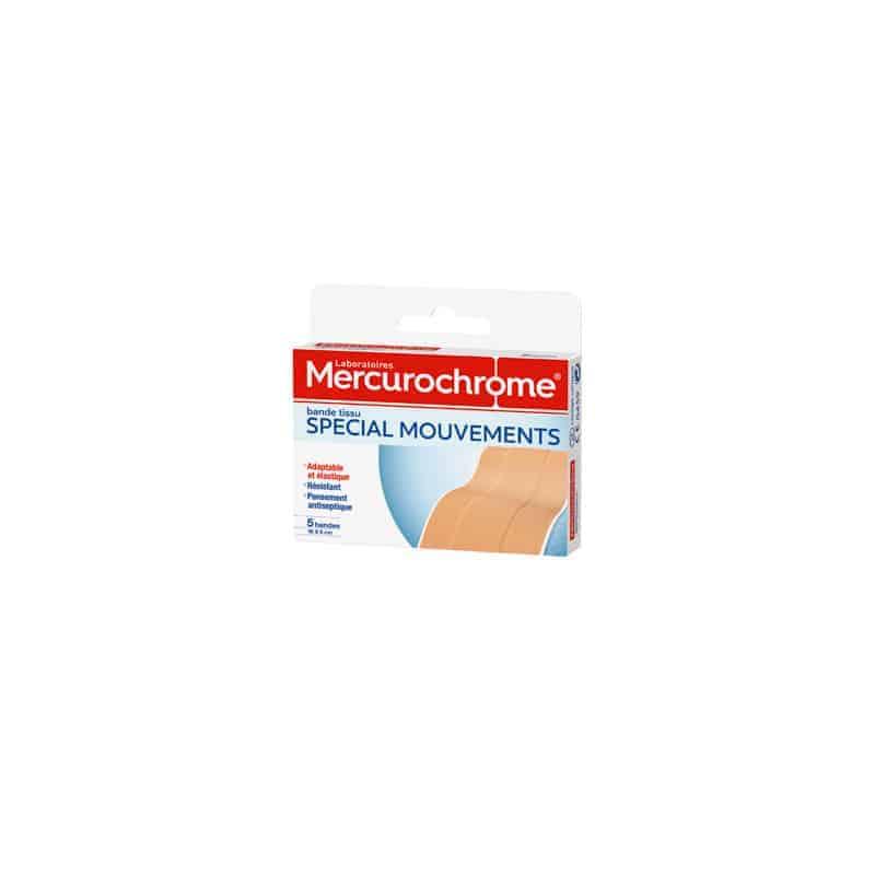 Mercurochrome Pansement Tissu Spécial Mouvement 6x10cm 5 bandes