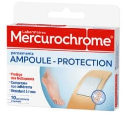 Mercurochrome Pansements Adhésif Ampoule Protection Boîte de 10
