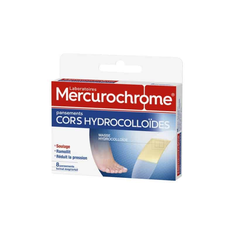 Mercurochrome Pansements Cors Hydrocolloïdes Boîtes de 8