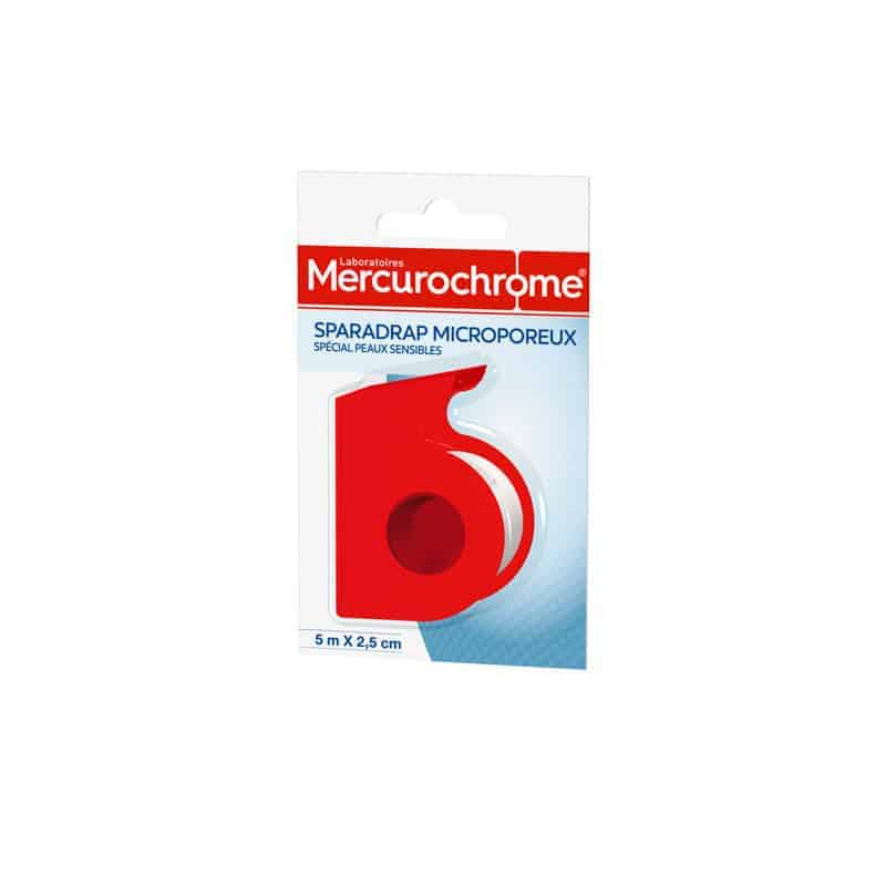 Mercurochrome Sparadrap Microporeux 5m x 2.5cm