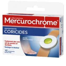 Mercurochrome pansements Coricides Boîte de 12