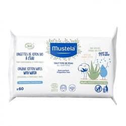 Mustela Lingettes Bio à l'Eau 60 lingettes