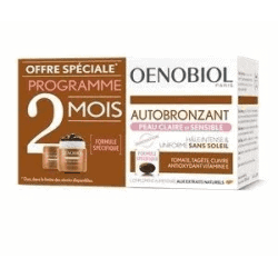 Oenobiol Autobronzant Peau Claire et Sensible Duo 2x30 capsules