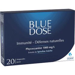 Blue Dose Phycocyanine Extraite de Spiruline 20 ampoules de 5ml