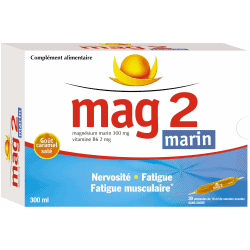 Mag2 Magnésium Marin 30 ampoules de 10ml
