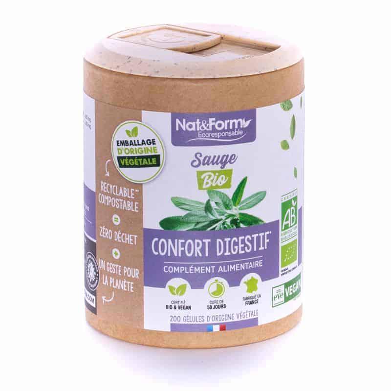 Nat&Form Ecoresponsable Sauge Bio 200 Gélules