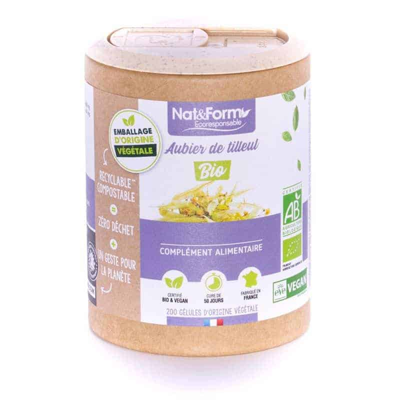 Nat&Form Ecoresponsable Aubier de Tilleul Bio 200 Gélules