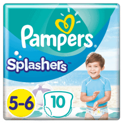 Pampers Splashers Couche de bain Taille 5-6 10 couches